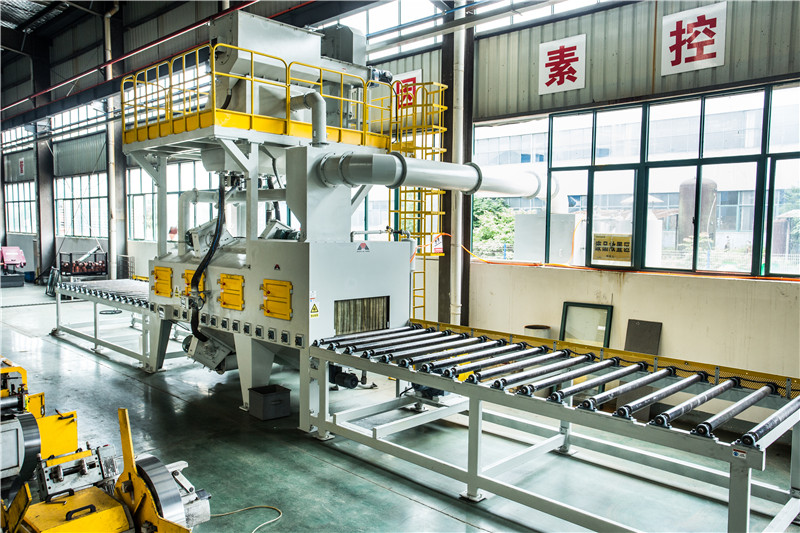 Tunnel Type Roller Conveyor Shot Blasting Machine